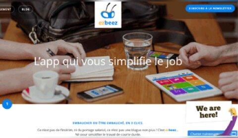 L'application Ezbeez invente le bouton «J'embauche» - D.R.
