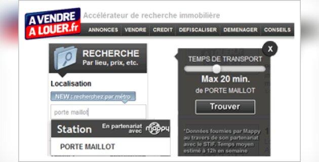 AVendreALouer.fr propose la recherche par stations de métro ou temps de transport - D.R.