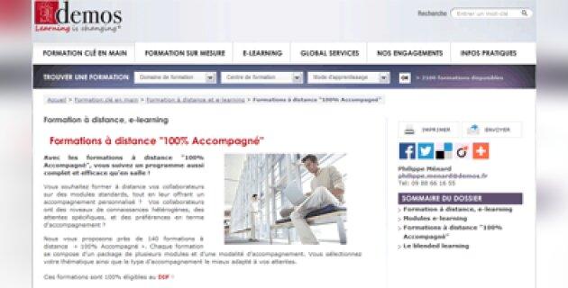 Demos lance une offre de formation à distance 100% accompagné - D.R.