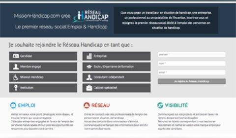 Jobinlive lance Réseau-Handicap.com