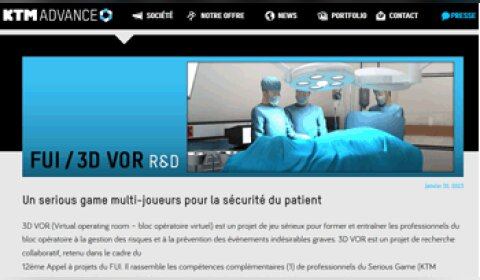 3D Virtual Operating Room : le serious game du bloc opératoire
