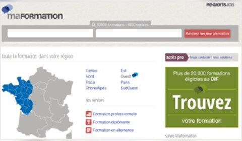 RegionsJob lance MaFormation.fr