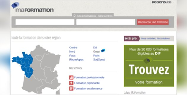 RegionsJob lance MaFormation.fr - D.R.