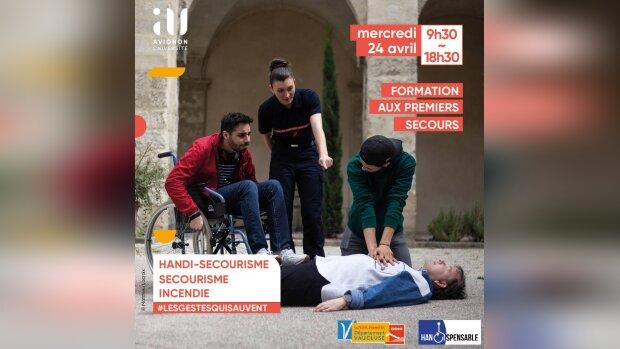 Avignon Université propose une formation handi-secourisme à ses étudiants et personnels