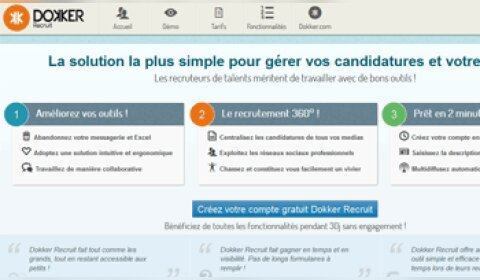 Dokker Recruit, une solution pourfaciliter le recrutement des PME
