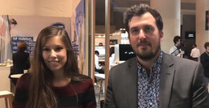 Anna Thibaut et Rémi Leroy, respectivement responsable marketing et agent commercial de Matterport - © D.R.