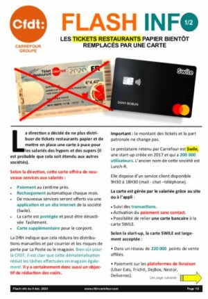 Introduction de la carte Swile chez Carrefour : volet 1