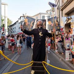 Les rues d'Avignon lors de l'édition 2019 du festival.
