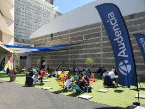 Moment de détente pour les candidats à Audencia - © Marine Dessaux