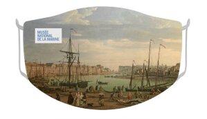 Masque reprenant les peintures portuaires de Joseph Vernet - © D.R.