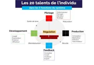Les 20 talents de l'individu dans les 5 fonctions du système