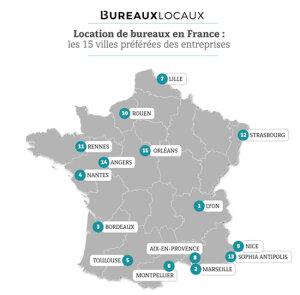 Bureaux: quelles sont les villes les plus prisées en France?