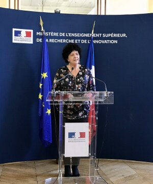 Frédérique Vidal, le 13/03/2020, au Mesri