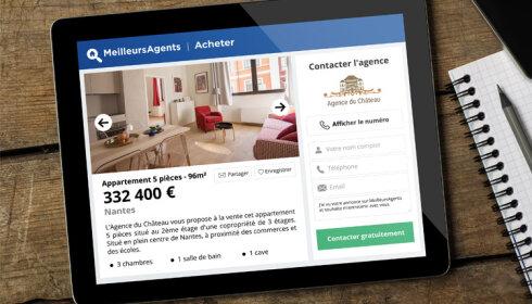 MeilleursAgents, l'allié digital des agences immobilières, refond ses annonces - D.R.
