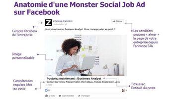 Monster traque les candidats potentiels sur Facebook - D.R.