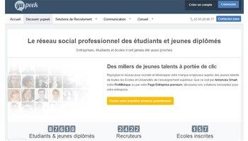 Yupeek, le réseau social des jeunes diplômés, souffle sa 2<sup>e</sup> bougie - D.R.