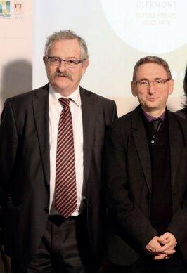 François Paquis avec le président de l'Université Clermont Auvergne, Mathias Bernard. - © ESC Clermont