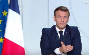 Emmanuel Macron lors de son allocution du 28 octobre