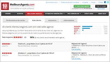 Les avis clients, une vitrine virtuelle pour les agences immobilières - Par MeilleursAgents.com - D.R.