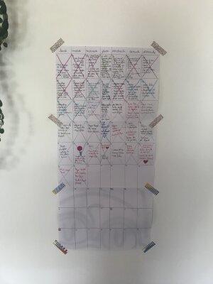 Le calendrier de confinement de la contributrice Lili Sohn.