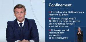 Reconfinement: quelques éléments de présentation d'Emmanuel Macron pour les entreprises