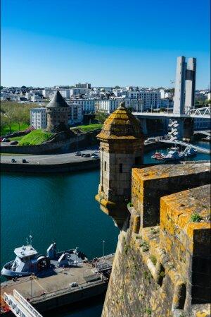 Le site de Brest. - © Besselievre