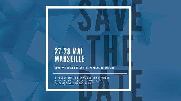 «L'engagement», thème de l'université de l'ANDRH les 27 et 28/05/2020 à Marseille