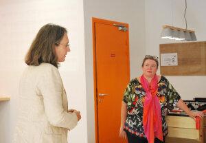 Sabine de Villoutrey, directrice de SUP des RH (gauche) et Sophie Cavaliero, scénariste (droite). - © RH Matin