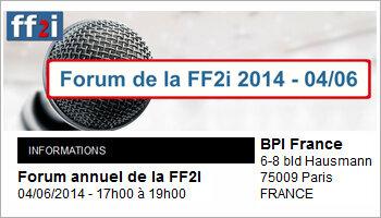 Le prochain forum de la FF2i aura lieu le 4 juin autour du thème de la performance - D.R.