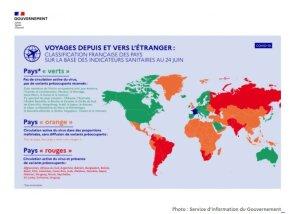 Covid-19: Classification des pays au 24 juin 2021 sur la base des indicateurs sanitaires - © D.R.