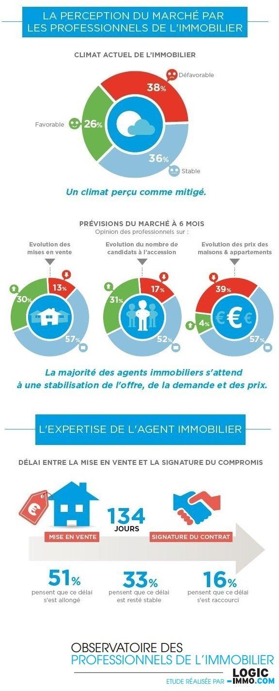 Infographie : les agents immobiliers ont-ils le moral ?-D.R.