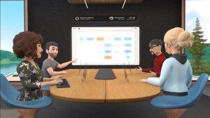 La salle de réunion virtuelle. - © Facebook