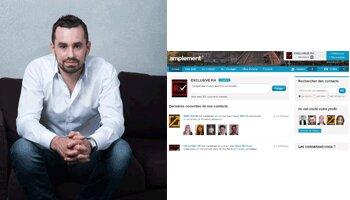 «Nous voulons devenir le leader français des réseaux sociaux professionnels», A. Sommier, Amplement - D.R.
