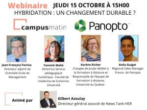 Hybridation un changement durable? Webinaire Campus Matin et Panopto