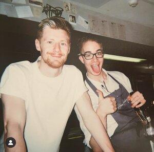 Benjamin Ferron (à droite) a travaillé dans un restaurant gastronomique londonien. - © D.R.