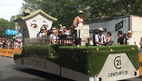 Century 21 renouvelle son partenariat avec le Tour de France pour 3 ans - D.R.