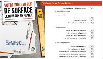Bureaux-Locaux.com lance un simulateur de surface à destination des entreprises - D.R.