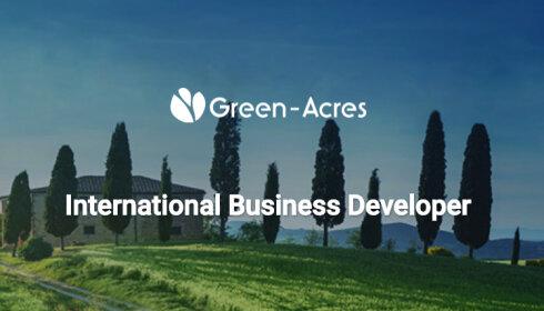 L'offre d'emploi de la semaine: International business developer - Paris - Green-Acres - D.R.