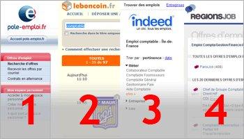 Le classement de sites emploi en France en août 2012 - D.R.