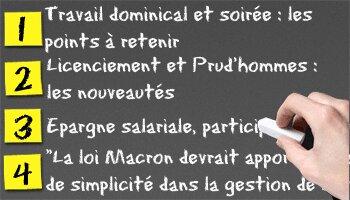 Loi Macron: ce qui va changer - D.R.