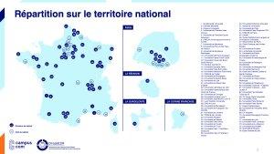 La répartition des dircab sur le territoire national - © Campus com