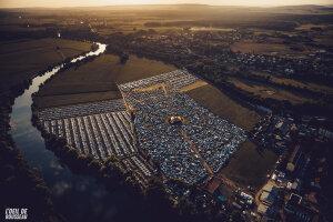 Le site du festival, à Fraisans (Jura). - © L'Oeil de Rousseau